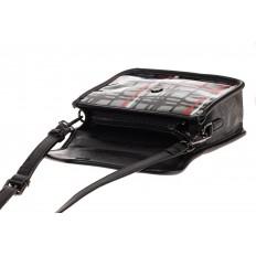 На фото 3 - Летняя кросс-боди из искусственной кожи, цвет черный
