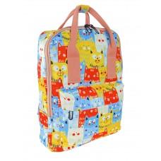 На фото 1 - Молодёжный рюкзак из текстиля с принтом, разноцветный