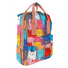 На фото 1 - Рюкзак молодёжный из текстиля с принтом, мультицвет