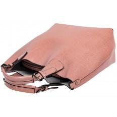 На фото 4 - Сумка тоут из натуральной кожи, цвет розовый