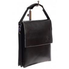 На фото 1 - Сумка-планшет мужская из искусственной кожи, цвет чёрный