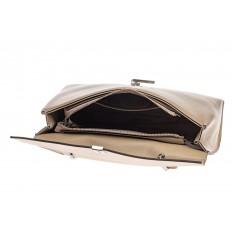 На фото 4 - Женская сумка портфель из натуральной кожи, цвет пудра