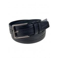На фото 1 - Ремень кожаный мужской, чёрный цвет
