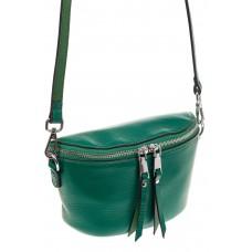 На фото 1 - Модная сумка-ведерко из натуральной кожи, ц...