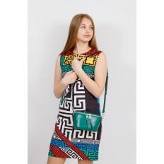 На фото 4 - Модная сумка-ведерко из натуральной кожи, цвет зеленый