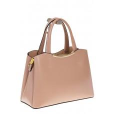 на фото Бежевая handbag из искусственной кожи 8123-9MJ5