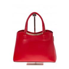 На фото 2 - Красная handbag из искусственной кожи 8123-9MJ5