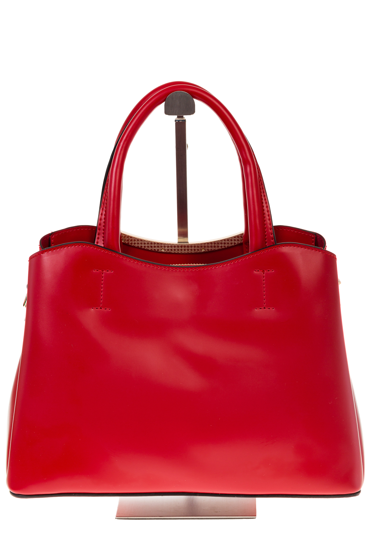 На фото 3 - Красная handbag из искусственной кожи 8123-9MJ5