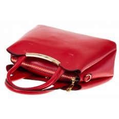 На фото 4 - Красная handbag из искусственной кожи 8123-9MJ5