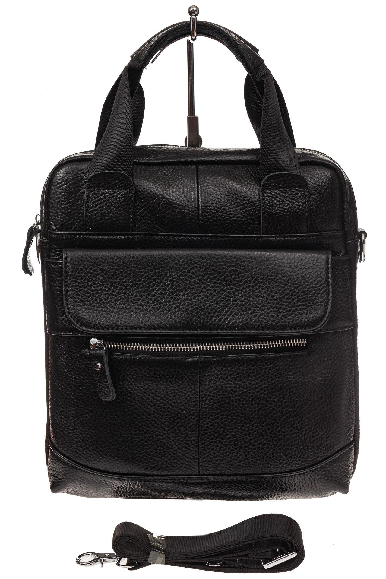 На фото 2 - Мужская сумка тоут из натуральной кожи
