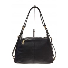 На фото 3 - Сумка-рюкзак из натуральной замши, цвет черный