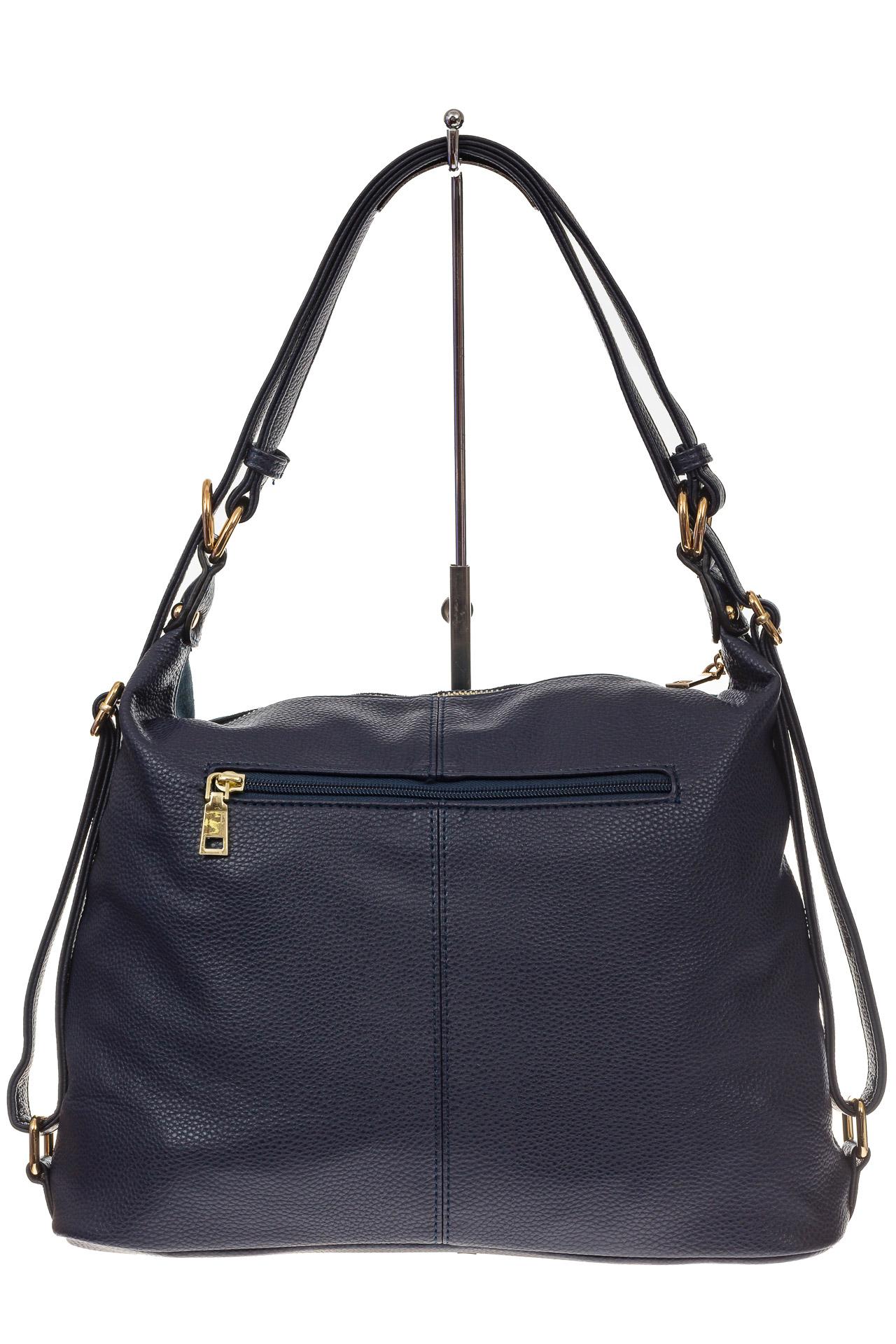 На фото 3 - Сумка-рюкзак из натуральной замши, цвет синий