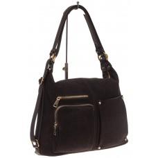 На фото 1 - Сумка-рюкзак из натуральной замши, цвет коф...