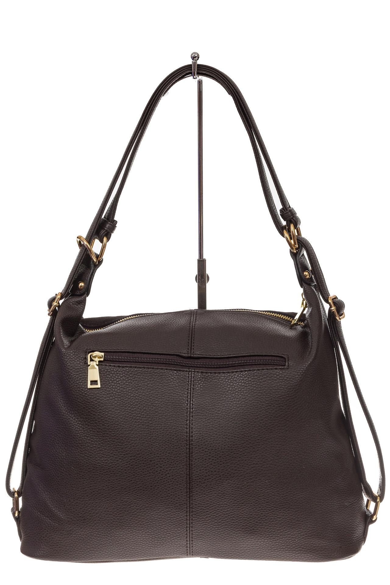 На фото 3 - Сумка-рюкзак из натуральной замши, цвет кофе