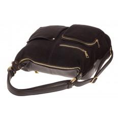 На фото 4 - Сумка-рюкзак из натуральной замши, цвет кофе