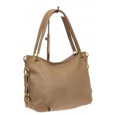 На фото 1 - Большая мягкая сумка из натуральной кожи, ц...