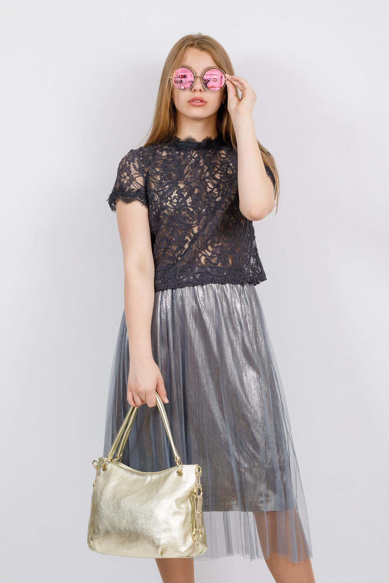 На фото 4 - Большая мягкая сумка из натуральной кожи, цвет светлое золото