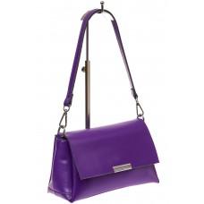 На фото 1 - Женская сумка багет из натуральной кожи, цв...