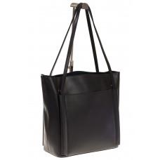 на фото Сумка shopper черного цвета из натуральной кожи 8158MK5