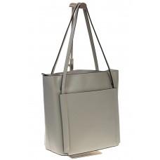 на фото Сумка shopper серого цвета из натуральной кожи 8158MK5