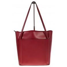 На фото 2 - Сумка shopper бордового цвета из натуральной кожи 8158MK5