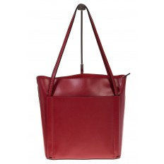 На фото 3 - Сумка shopper бордового цвета из натуральной кожи 8158MK5