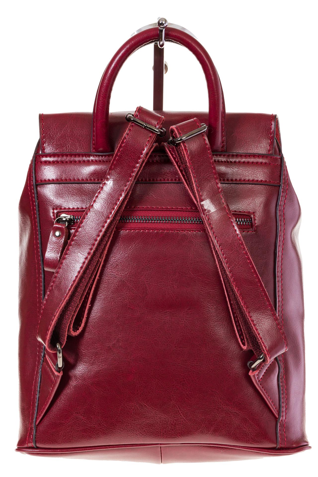 На фото 3 - Рюкзак-торба из натуральной кожи, цвет бордо