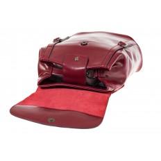 На фото 4 - Рюкзак-торба из натуральной кожи, цвет бордо