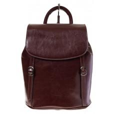 Купить оптом рюкзак-торба из натуральной кожи, цвет коричневый, фото