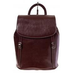 На фото 2 - Рюкзак-торба из натуральной кожи, цвет коричневый