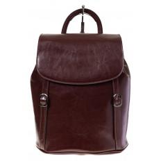 На фото 4 - Рюкзак-торба из натуральной кожи, цвет коричневый