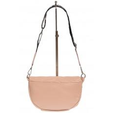 На фото 3 - Женская сумка-бананка из мягкой искусственной кожи, цвет розовый