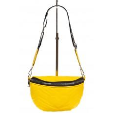 На фото 2 - Женская сумка-бананка из мягкой искусственной кожи, цвет жёлтый