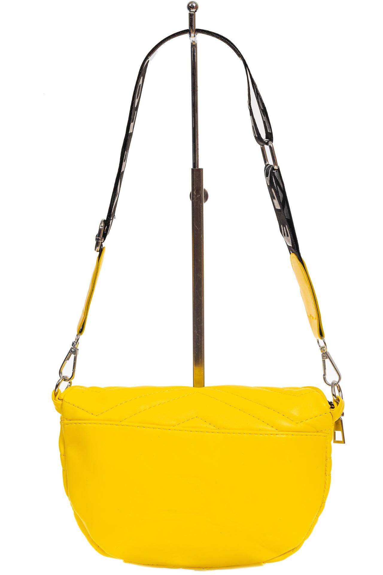 На фото 3 - Женская сумка-бананка из мягкой искусственной кожи, цвет жёлтый