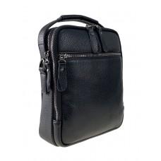 На фото 1 - Кожаная мужская сумка под документы, чёрная