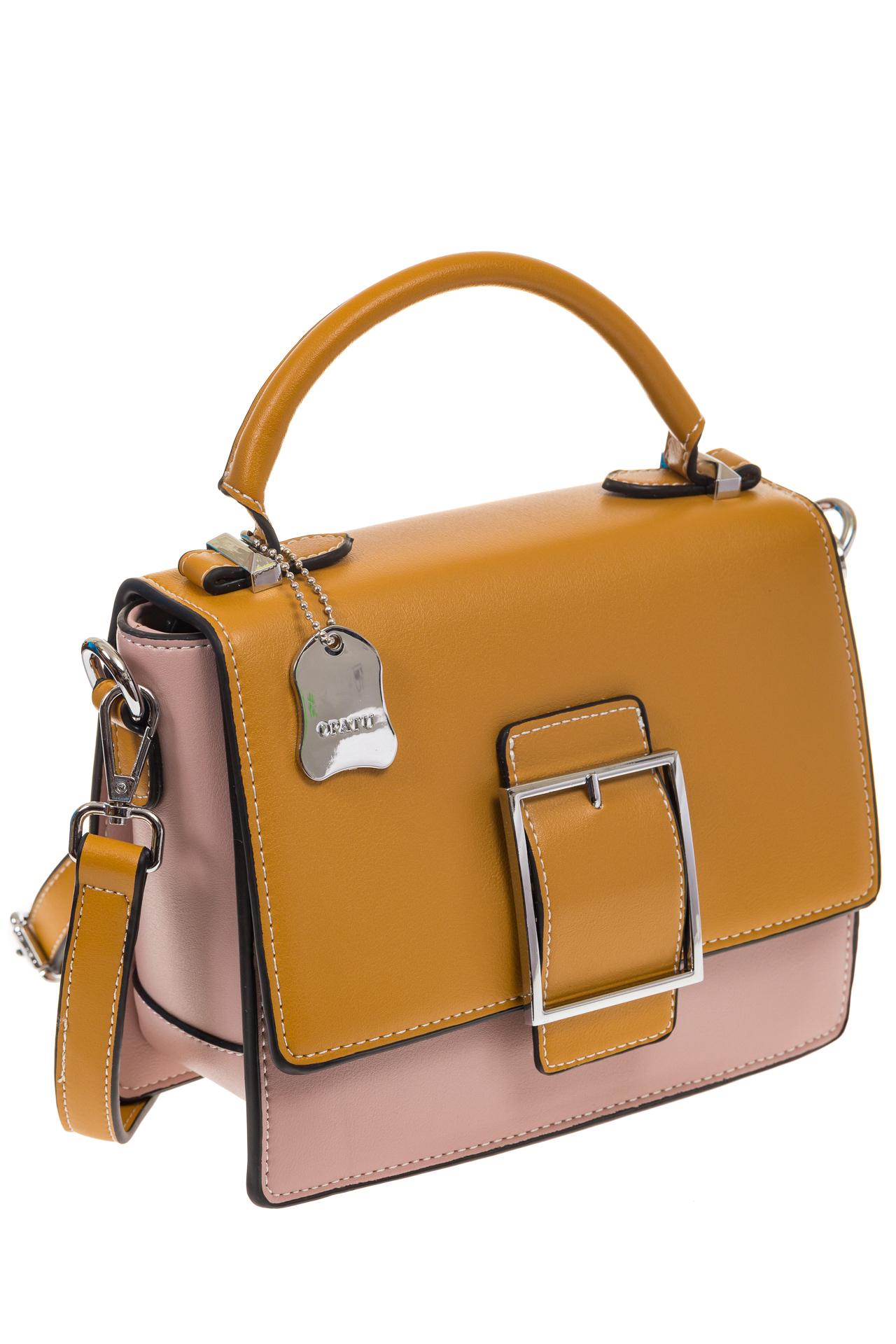 На фото 1 - Кросс-боди, цвет коричневый с розовым 818