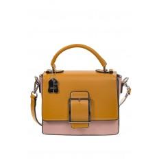 На фото 2 - Кросс-боди, цвет коричневый с розовым 818