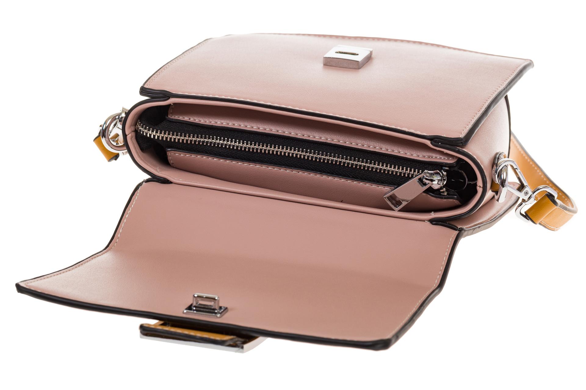 На фото 4 - Кросс-боди, цвет коричневый с розовым 818