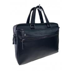 На фото 1 - Сумка-портфель для мужчин из натуральной кожи, цвет чёрный