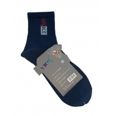 На фото 1 - Молодёжные носки с прикольной надписью, цвет тёмно-синий