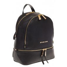На фото 1 - Городской женский рюкзачок из черной эко-кожи 8220