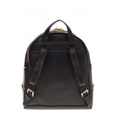 На фото 3 - Городской женский рюкзачок из черной эко-кожи 8220