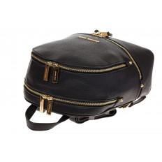 На фото 4 - Городской женский рюкзачок из черной эко-кожи 8220