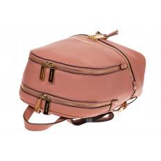 На фото 4 - Городской женский рюкзачок из розовой эко-кожи 8220