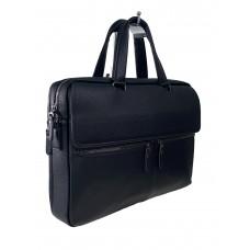 На фото 1 - Мужской деловой портфель из натуральной кожи, цвет чёрный