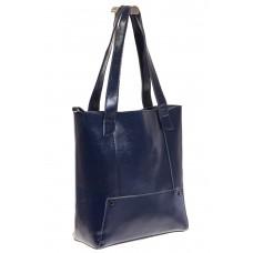 На фото 1 - Стильный шоппер синего цвета 822