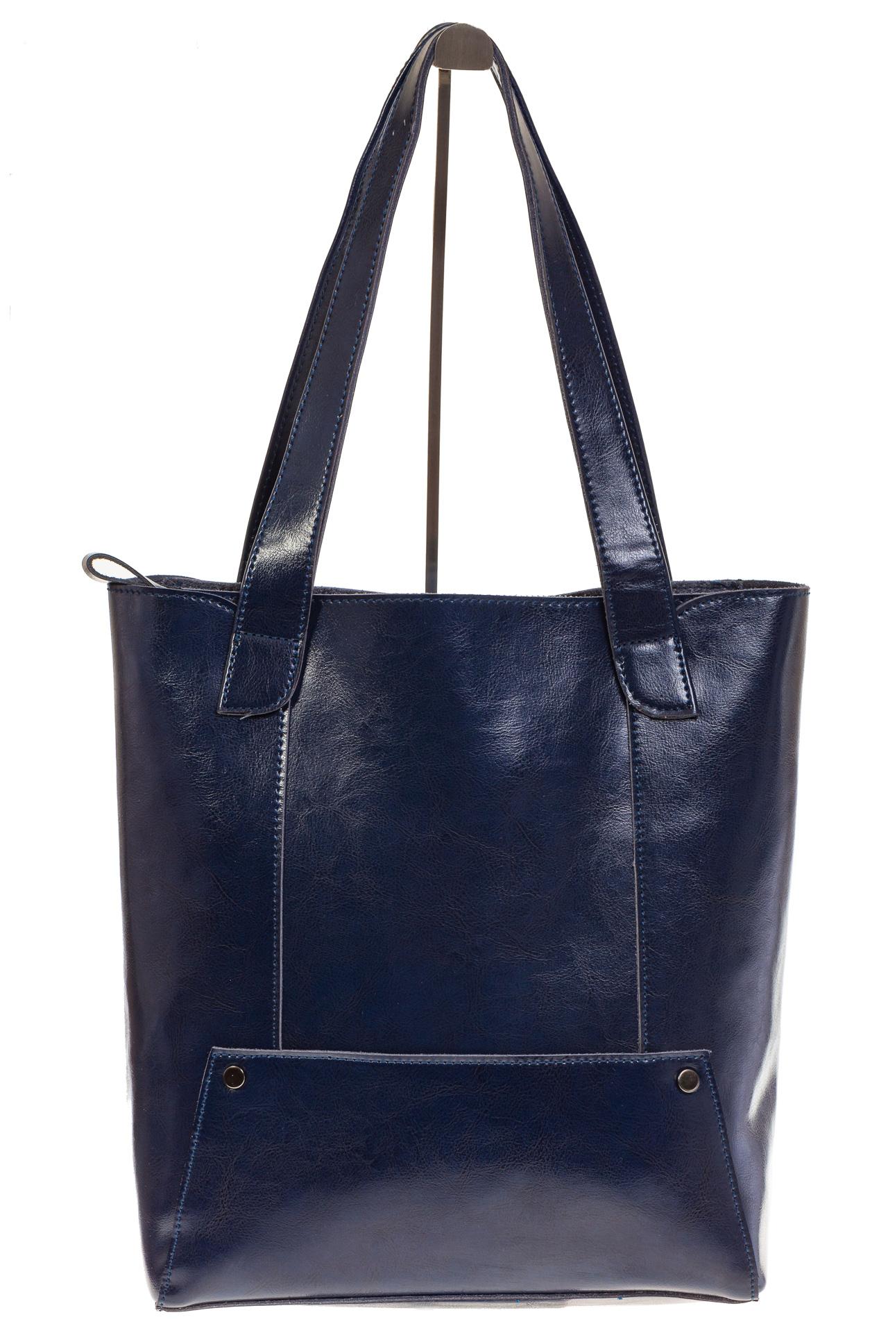На фото 2 - Стильный шоппер синего цвета 822