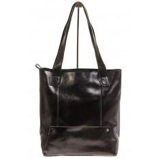 На фото 2 - Стильный шоппер черного цвета 822