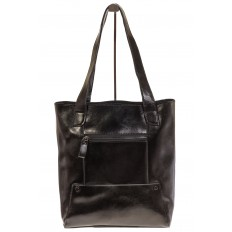 На фото 3 - Стильный шоппер черного цвета 822