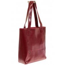 На фото 1 - Стильный шоппер цвета бордо 822